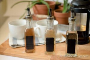 Don't spend a fortune on store-bought syrups! Have cafe style coffee at home with these SIMPLE Homemade Coffee Syrups! So many flavor choices!