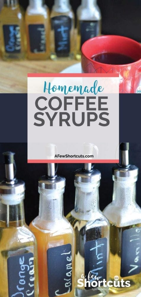Have cafe style coffee at home with these SIMPLE Homemade Coffee Syrups