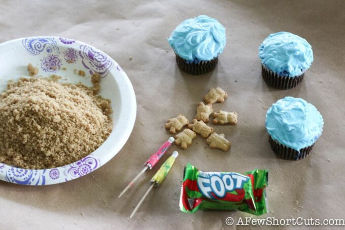 cupcakes and teddy grahams