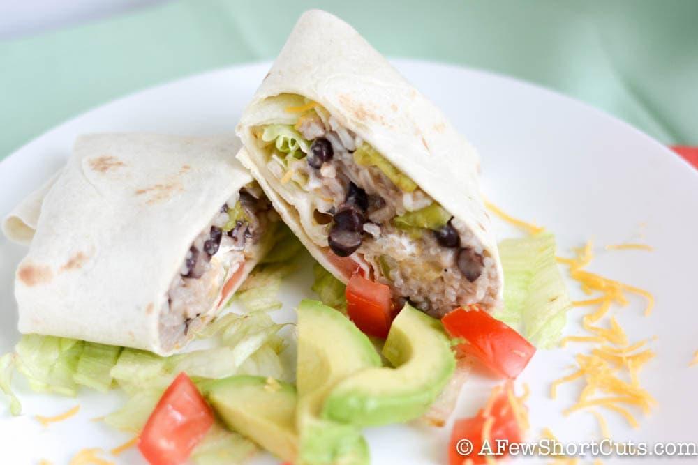 Best Ever Bean & Rice Burritos-1-9