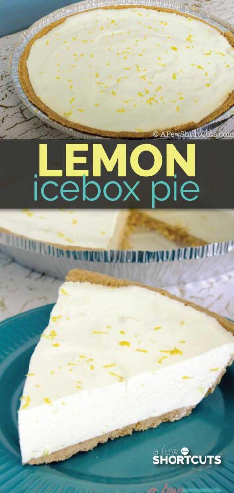 Sometimes you just need a quick and easy dessert! This no-bake pie is perfect for Summer! Try this yummy Lemon Icebox Pie Recipe