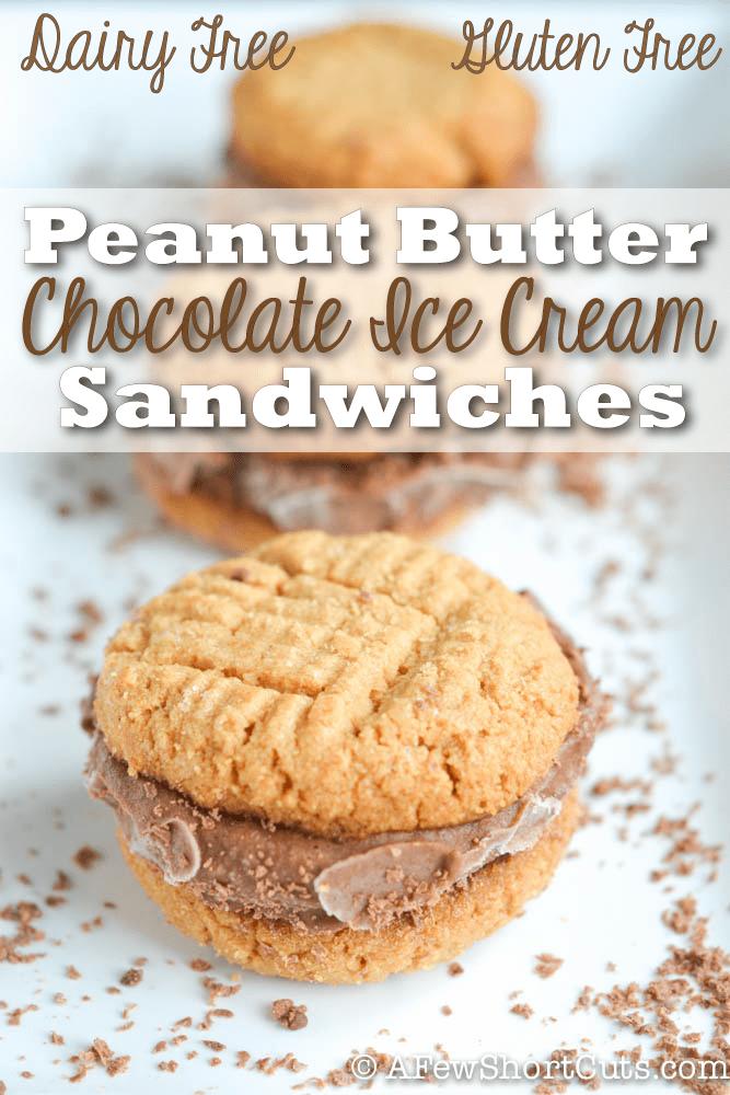 Gluten Free Dairy Free Peanut Butter Chocolate Ice Cream Sandwich Recipe
