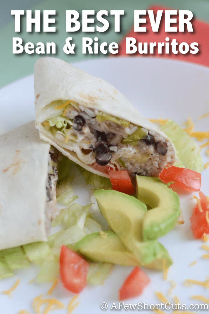 The Best Ever Bean & Rice Burritos