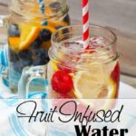 A healthy way to drink more water everyday. This simple Fruit Infused Water flavors it without adding extra calories!