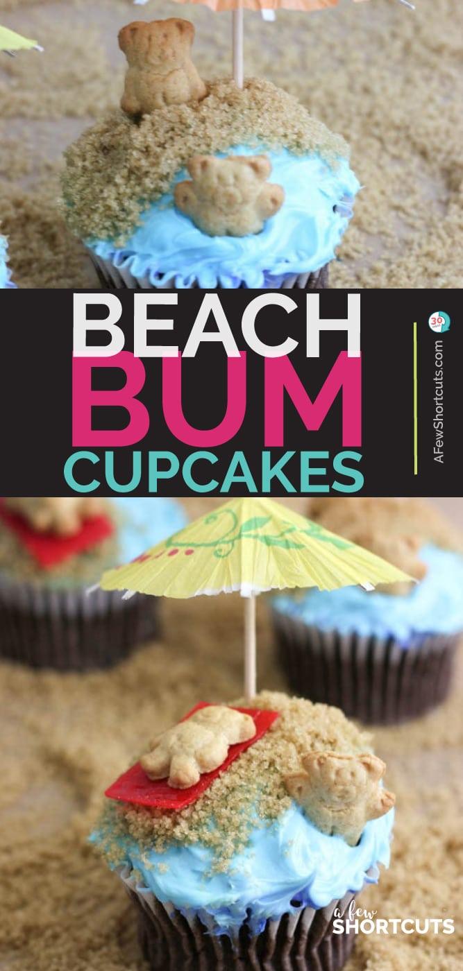 Beach Bum Cupcakes