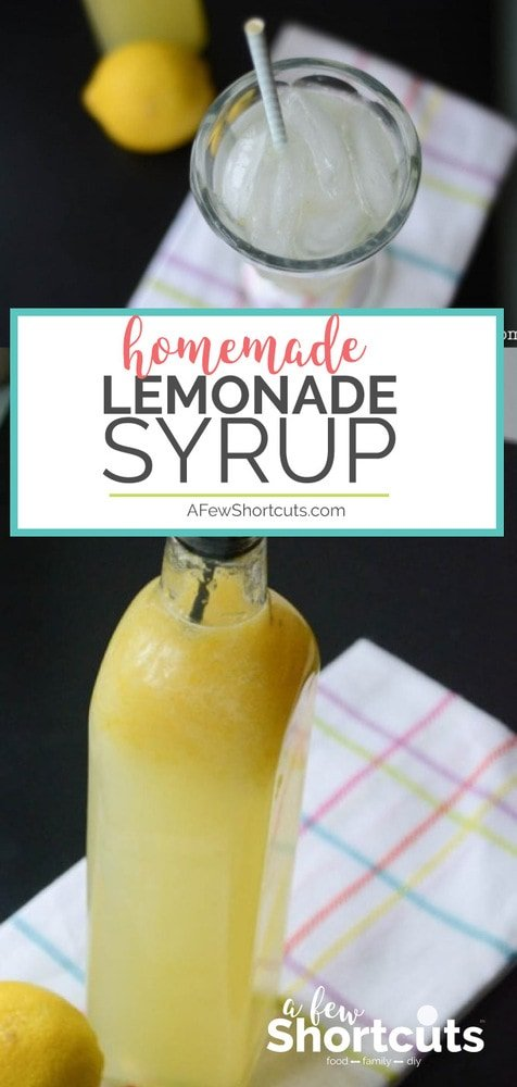 This Homemade Lemonade Syrup recipe makes the best fresh lemonade ever! Perfect for gifts, and there are free printable labels!
