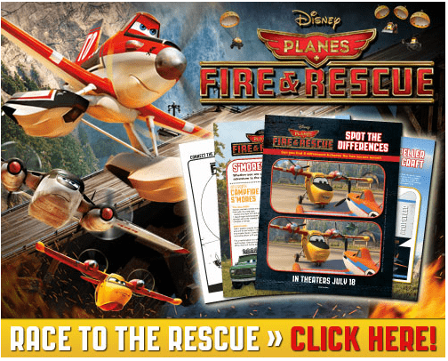 FREE Disney Planes Fire & Rescue Printables