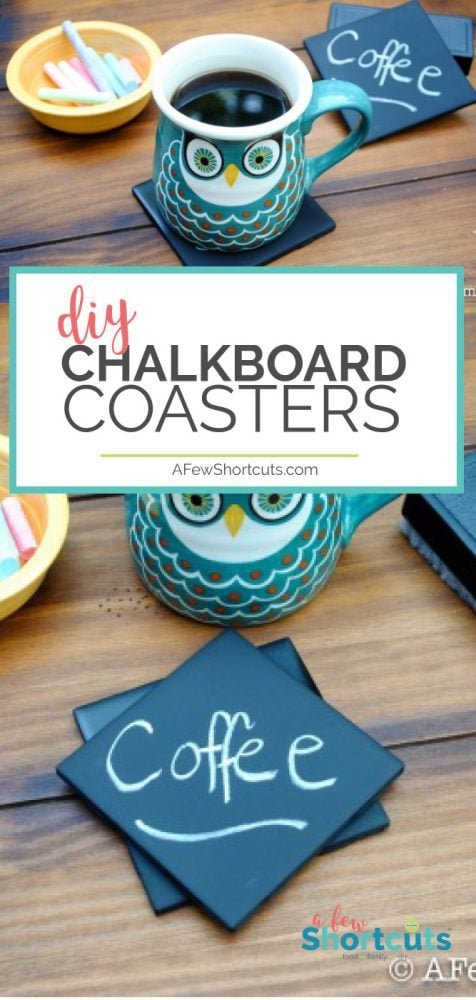 Simple and cheap to make, and fun to give as a gift! Check out these DIY Chalkboard Coasters. A super craft for a coffee lover!