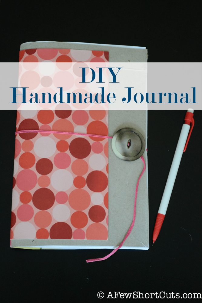 You will never guess what this is made of!!! Check out this simple DIY Handmade Journal!