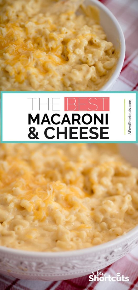 It doesn't get much better than this Pioneer Woman's Mac & Cheese Recipe!! This is the best ever Mac & Cheese! You have to try it at least once! | @AFewShortcuts #macandcheese #cheese #recipes #sidedish