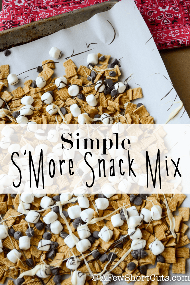 A fun and yummy summer snack! Before you go out on a hike or to the park try this Simple S'Mores Snack Mix Recipe