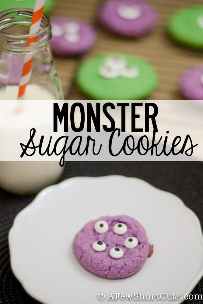 Super simple and fun for Halloween. Check out this easy Monster Sugar Cookie Recipe