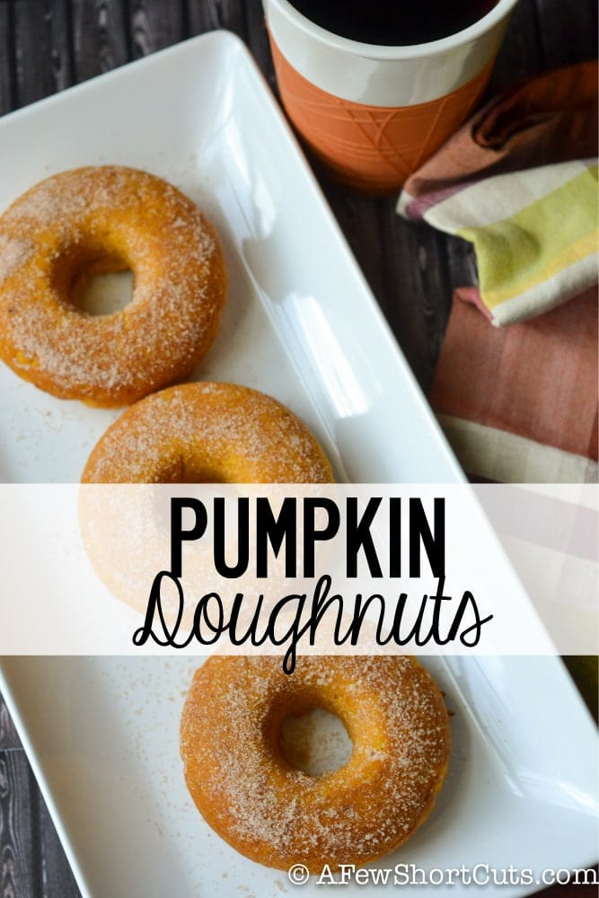 The perfect fall breakfast treat! You have to try this simple and fluffy Baked Pumpkin Doughnuts recipe
