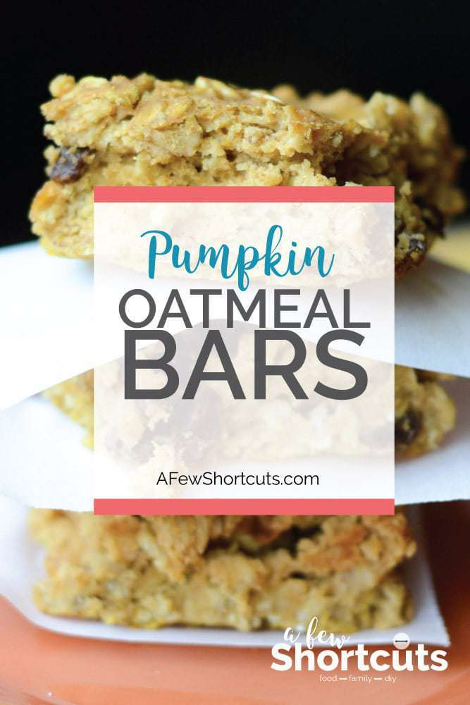 A perfect fall snack or breakfast! This simple Pumpkin Oatmeal Bars Recipe is perfect with a hot cup of coffee!