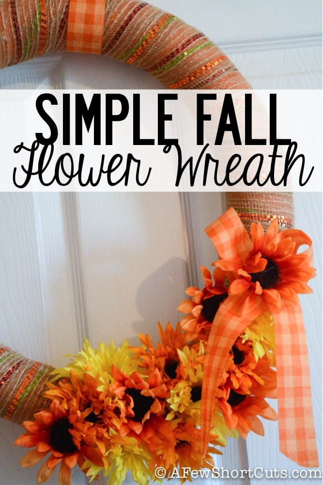 Decorate for Fall with this Simple Fall Flower Wreath Craft
