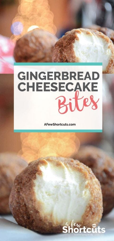 The perfect holiday freezer dessert. This Gingerbread Cheesecake Bites Recipe is just DELIGHTFUL and so easy to make!