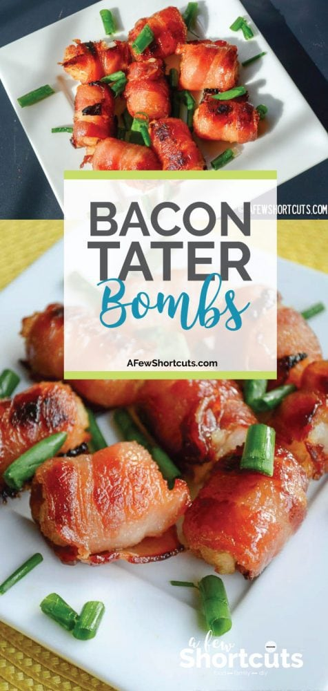 The best appetizer recipe ever! Great for game day! Make this simple Bacon Tater Bombs Recipe. Easy to make a full of flavor!