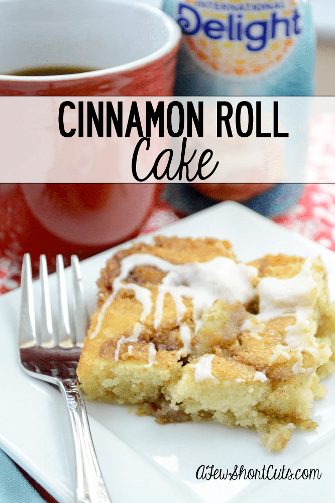 Skip the cinnamon rolls and go straight for this Cinnamon Roll Cake Recipe. Simply Fabulous! #IDelight
