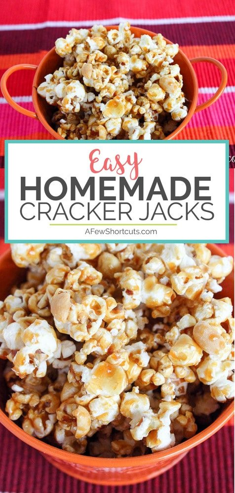 Don't let movie night pass you buy without trying this Easy Homemade Cracker Jacks Recipe. They could be better than the original!