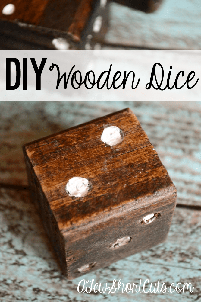 Such a fun and simple DIY project. Make these DIY Large Wooden Dice. Great for holiday gift giving, for little hands, or game night.