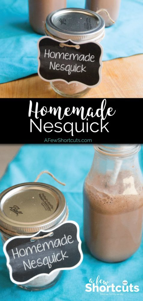 Do your kids love chocolate milk? Save your money and make your own Homemade Nesquick. Plus it is dairy free & gluten free.