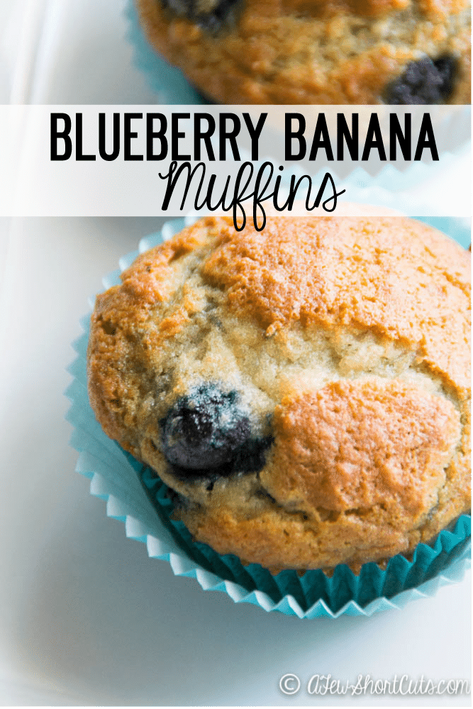 Have some bananas that are going south fast? Turn them into something amazing! Try this Blueberry Banana Muffins Recipe! Plus you can make them gluten free & dairy free