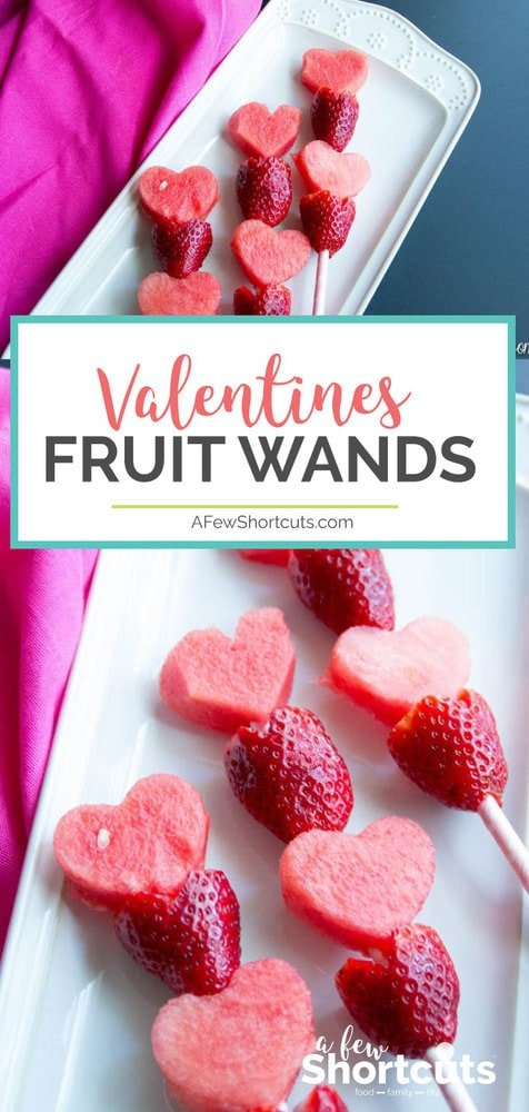 Healthy, Fun, and Simple. Try these Valentine Fruit Wands this Valentine's Day.