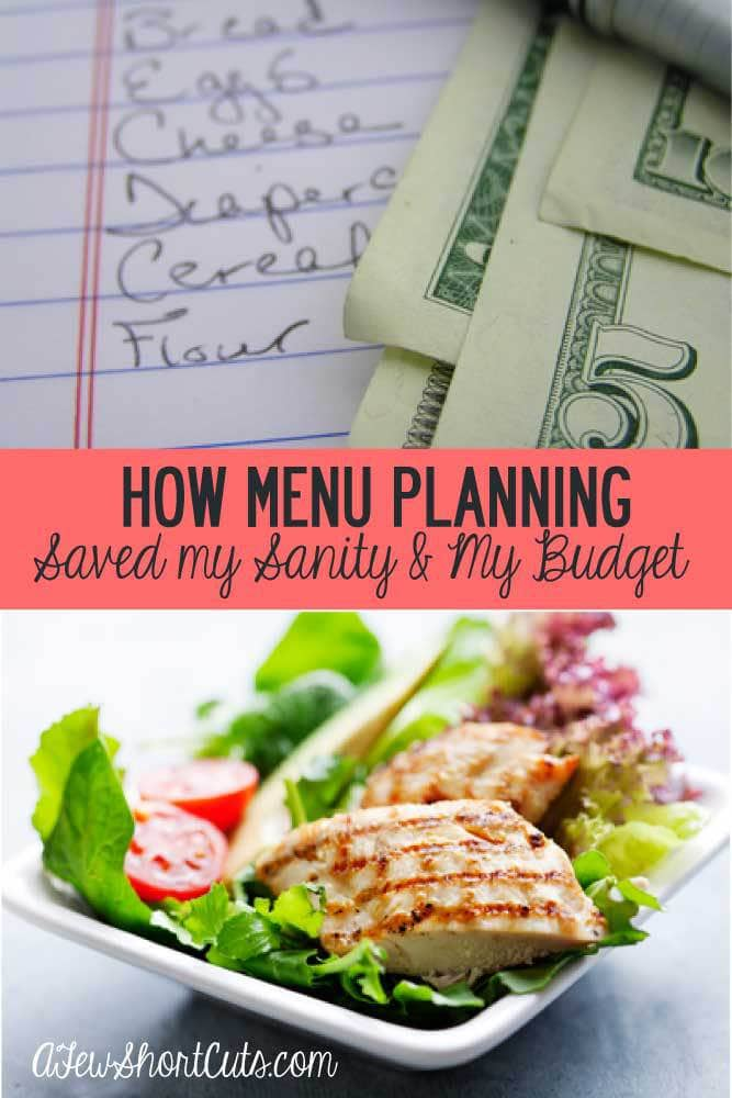 Don't know what's for supper? Making last minute runs to the store for ingredients? Is it just easier to order a pizza? Find out How Menu Planning Saved My Sanity & My Budget.