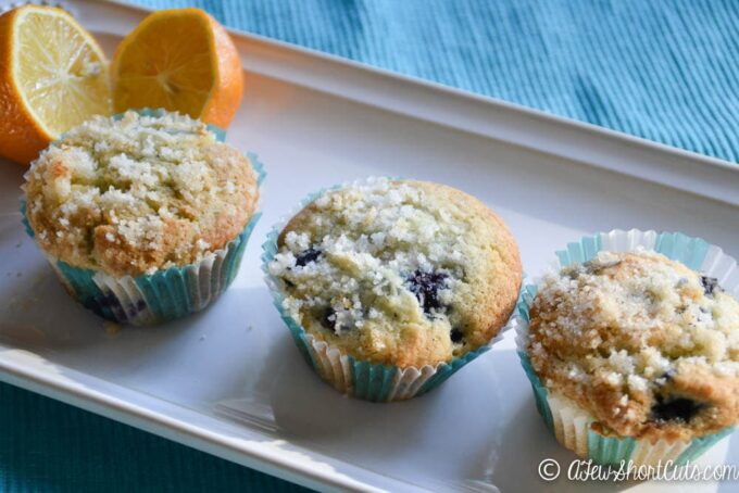 Don't waste your money on store bought Gluten Free baked goods. Try this easy and delicious Gluten Free Lemon Blueberry Muffins Recipe. OMG! Amazing!