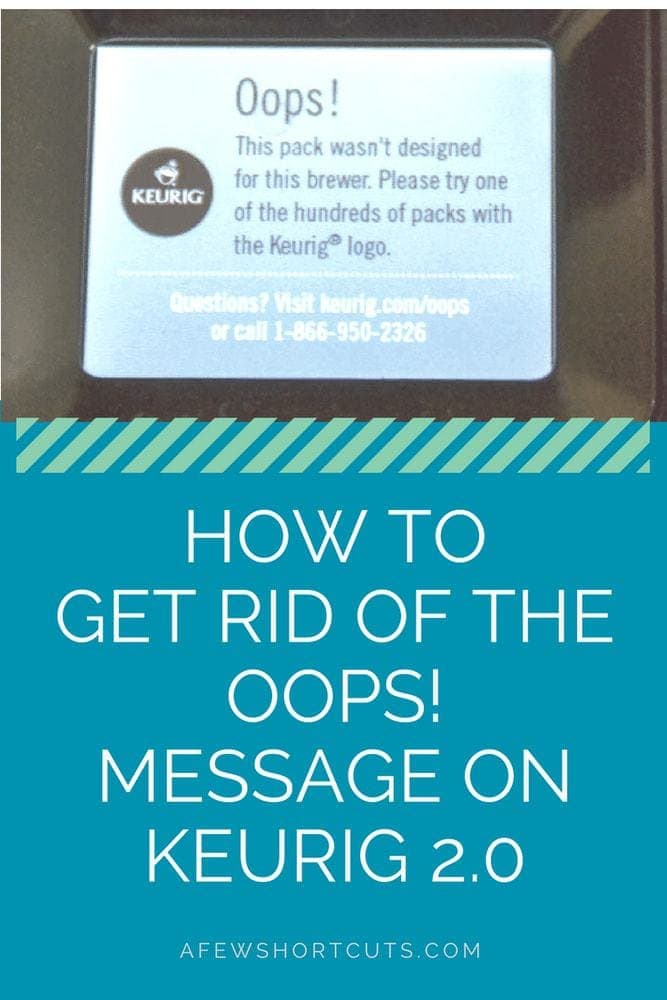 Trying to make a cup of coffee but you are getting frustrated? The dreaded Oops Message on Keurig 2.0! Learn how to get rid of it for good.