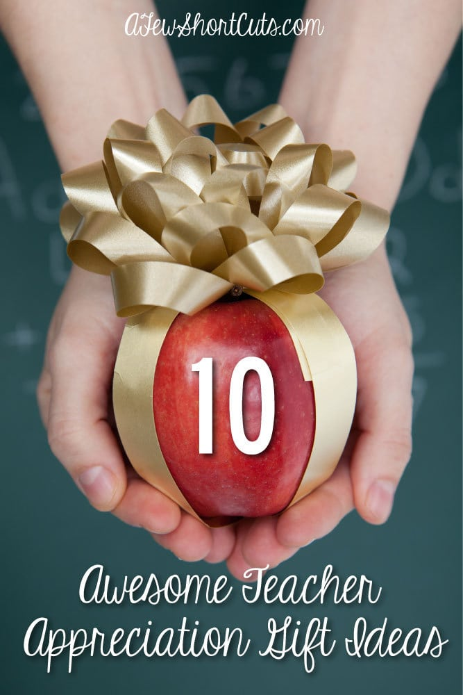 Teacher Appreciation Day and the end of the school year are coming. Show your child's teacher you care with these 10 Awesome Teacher Appreciation Gift Ideas!
