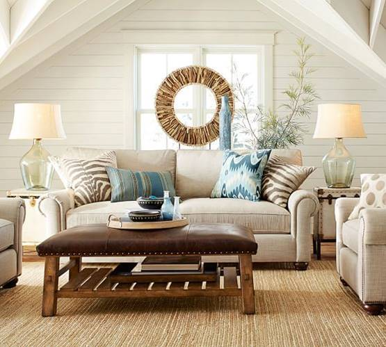 Get Inspired With These Amazing Living Rooms Decor Ideas: Pottery Barn Inspired Living Room For Less