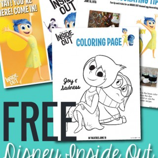 Free Disney Pixar Inside Out Printable Activity Sheets