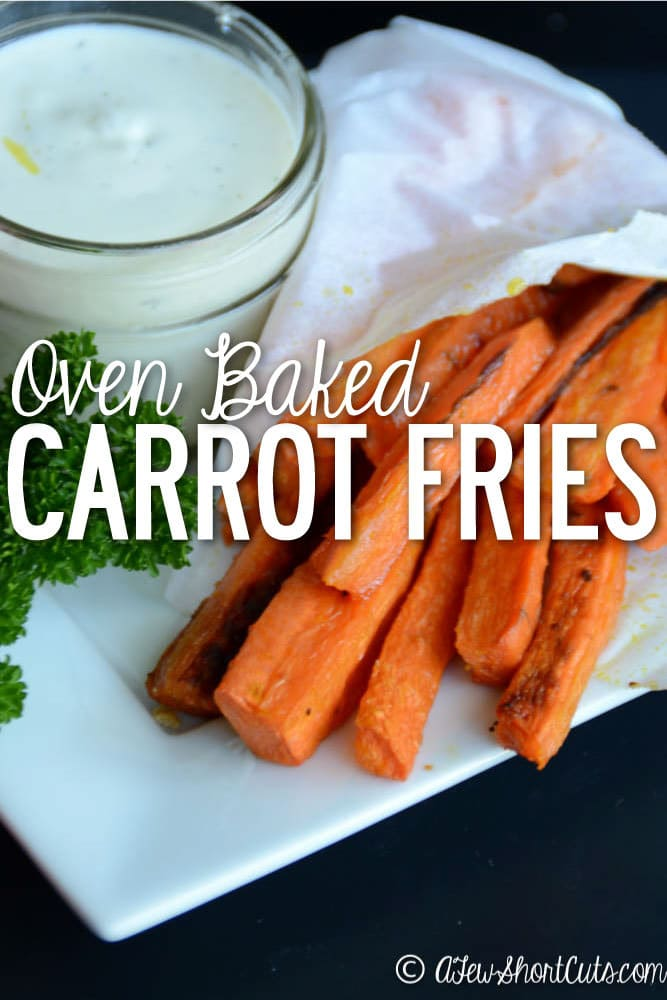 healthy alternative to french fries! These Oven Baked Carrot Fries ...