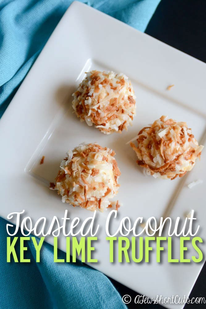 Imagine the sun, sand, and surf. Kick your feet up @indelight and enjoy one of these Toasted Coconut Key Lime Truffles. Such an easy recipe to whip up any day of the week.