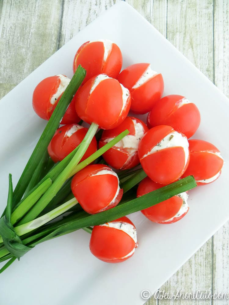Easy to make tulip tomatoes a few shortcuts for Appetizer decoration