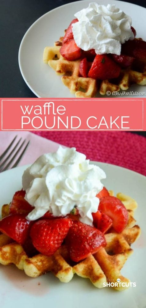 Pound cake on your plate in minutes? Yes, it is possible. Check out this simple Waffle Pound Cake Recipe! It will blow your mind!
