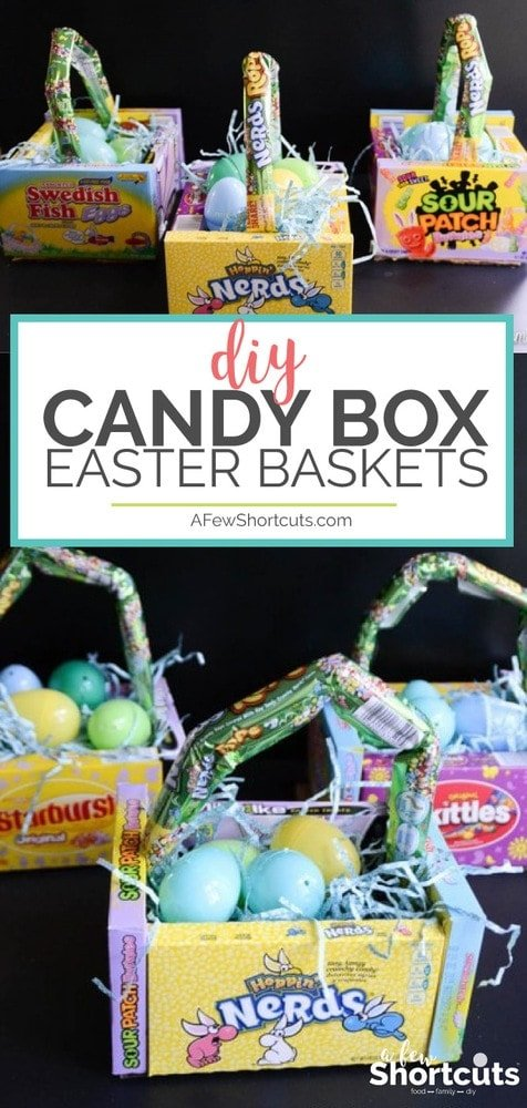 Diy candy box easter baskets a few shortcuts simple easter solution the candy is the basket with these easy to make diy candy negle Choice Image