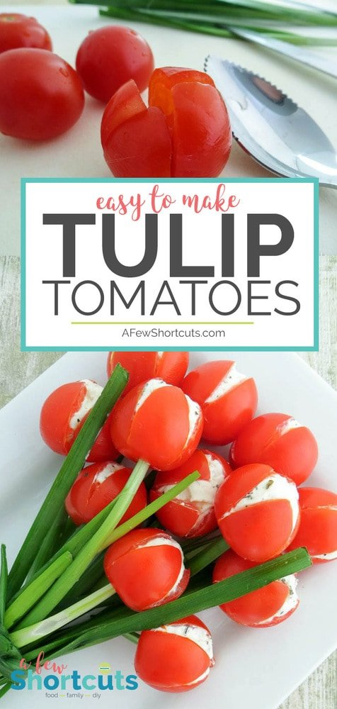 This food art will wow any crowd this spring! Check out just how simple it is to make these Tulip Tomatoes with the Recipe & Directions.