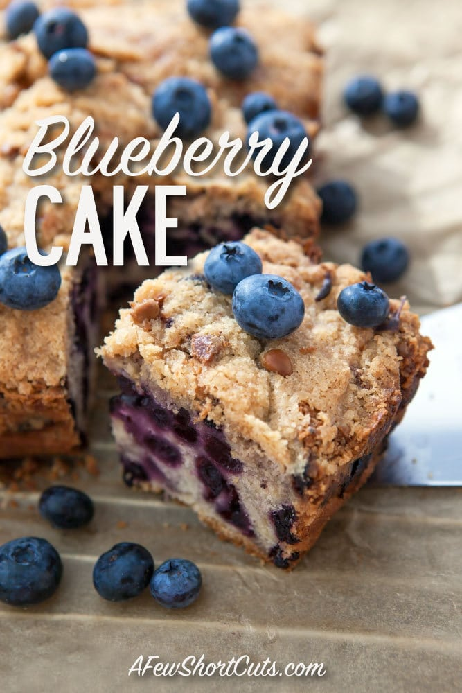 The most amazing Blueberry Cake recipe ever! Perfect for dessert or with a cup of coffee.