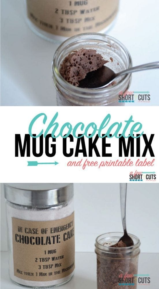 Chocolate Mug Cake Mix A Few Shortcuts