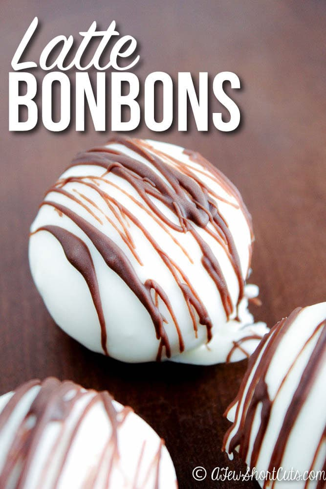 Sinfully delicious! A must make for any chocolate or coffee lover! Check out this easy Latte Bonbons recipe!