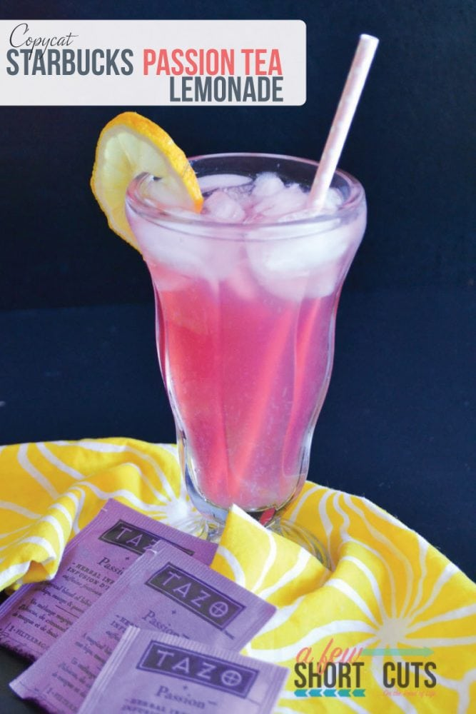 Save your money and make your own Copycat Starbucks Passion Tea Lemonade at home! This stuff is sinful and refreshing. Check out this simple beverage recipe.