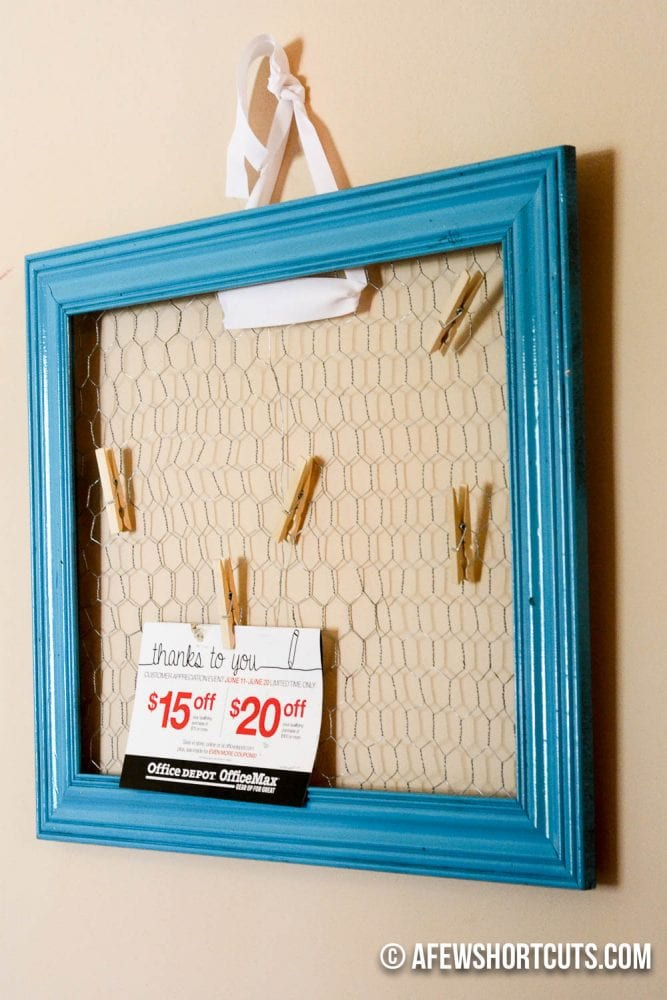 Diy Chicken Wire Bulletin Board A Few Shortcuts