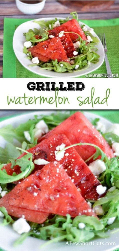 A unique and refreshing summer salad. Try this Grilled Watermelon Salad Recipe.