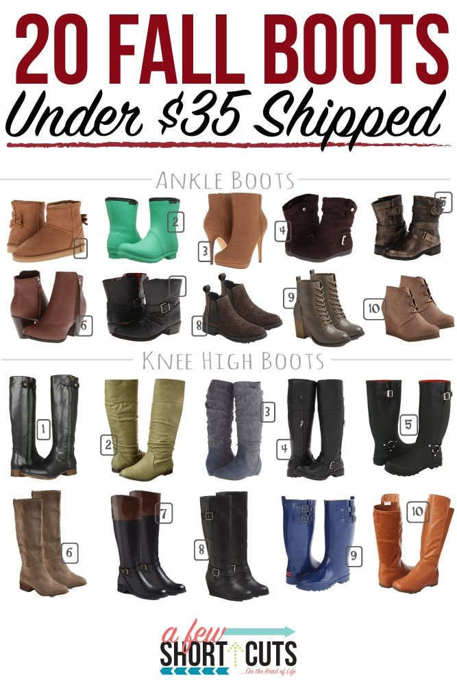 Stay fashionable without breaking the bank! Check out these 20 Fall Boots for under $35 Shipped! So cute!
