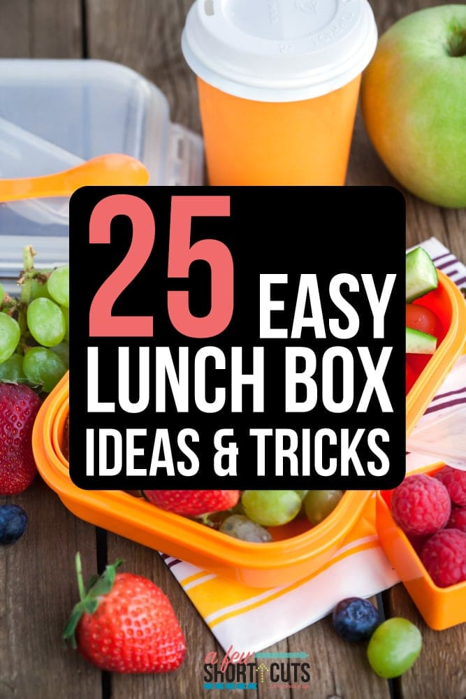 Does the thought of figuring out what to pack in the kids lunchbox make your head hurt? Check out this list of 25 Easy Lunch Box Ideas & Tricks.