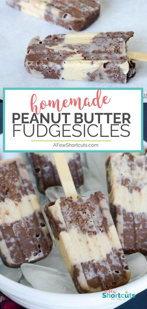 You haven't lived until you try this Homemade Peanut Butter Fudgesicle Recipe. It is to die for! Plus it can be made dairy free and gluten free without sacrificing quality! These are the best summer treat!