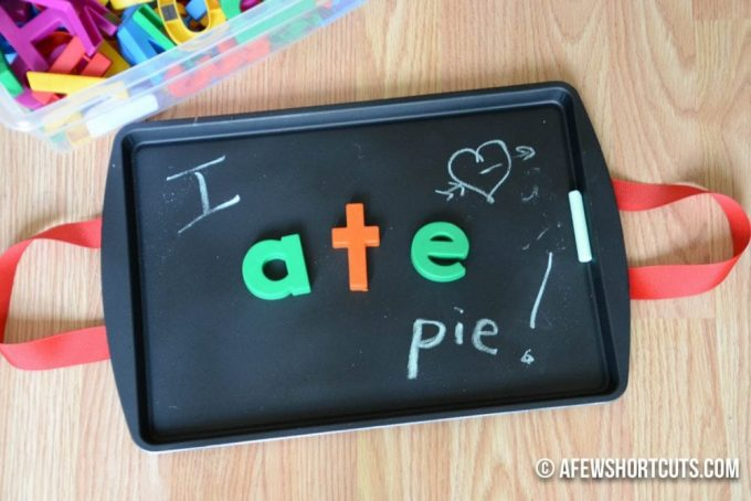 A great project or gift idea for the kids! Check out just how simple and affordable this DIY Magnetic Chalkboard Lap Desk craft is. A perfect solution for homework on the go.