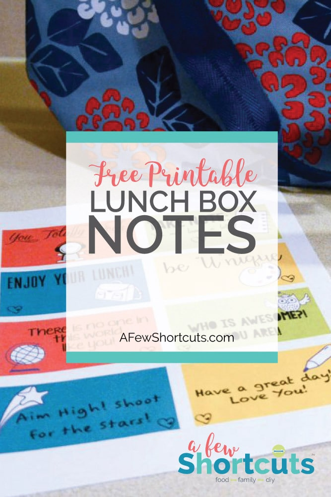 Let the kids know they are special and add one of these FREE Printable Lunch Box Notes to their lunch box!